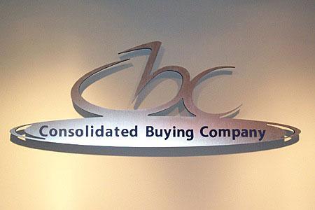 custom lobby displays we cnc cut this company logo to shape in