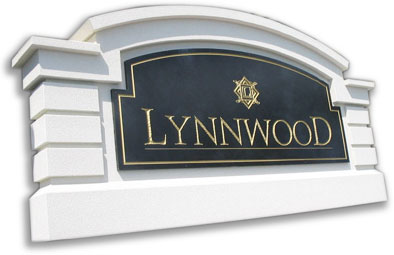Custom monument signs, stucco sign monuments and